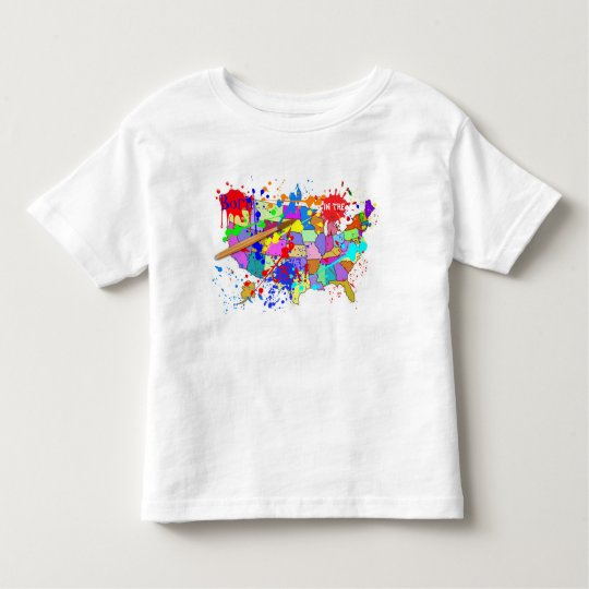 Born in the USA! Fresh Paint Edition Toddler T-shirt