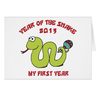 Born In The Year of The Snake 2013 Card