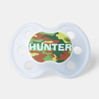 Born Love to Hunt Future Hunter Camo Army Colors Pacifier