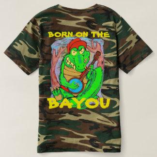 BORN ON THE BAYOU ALIGATOR T-SHIRT