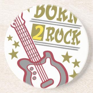 Born  rock Guitar, guitarist design Beverage Coaster
