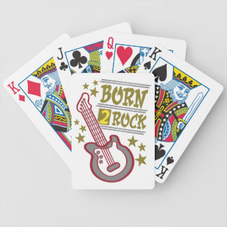 Born  rock Guitar, guitarist design Bicycle Playing Cards