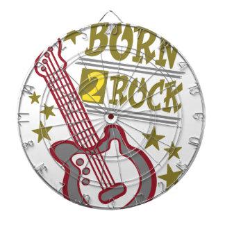 Born  rock Guitar, guitarist design Dartboard