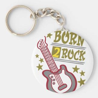 Born  rock Guitar, guitarist design Keychain