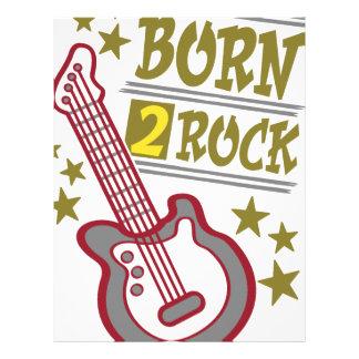Born  rock Guitar, guitarist design Letterhead