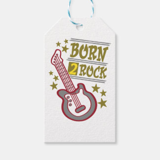 Born  rock Guitar, guitarist design Pack Of Gift Tags
