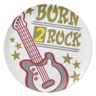 Born  rock Guitar, guitarist design Party Plate