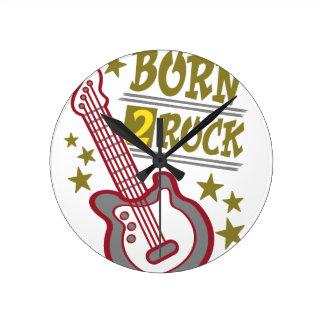 Born  rock Guitar, guitarist design Round Clock