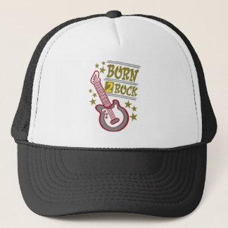 Born  rock Guitar, guitarist design Trucker Hat