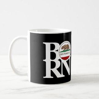 BORN San Francisco 11oz Black Basic White Mug