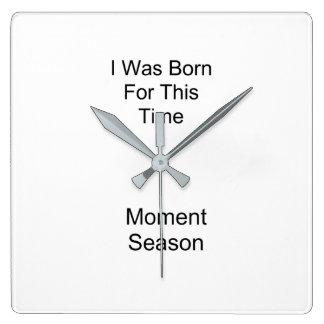 Born Square Wall Clock
