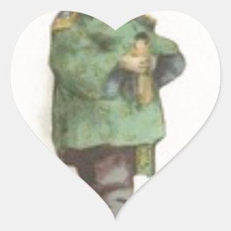Born the command heart sticker