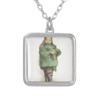 Born the command silver plated necklace