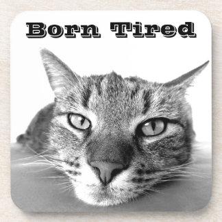 Born Tired Beverage Coaster