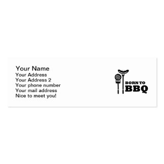 Born to BBQ Business Card