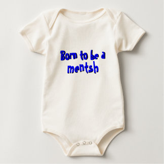 Born to be a Mentsh Baby Bodysuit