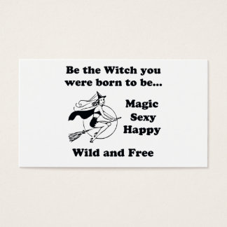 Born To Be A Witch Business Card