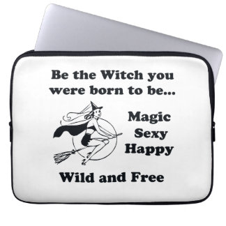 Born To Be A Witch Computer Sleeve