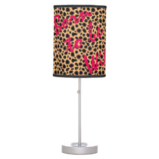 Born To Be Wild Cheetah Print Pattern Table Lamp