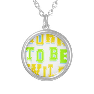 Born to be wild kid design silver plated necklace
