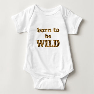 Born to be wild - Tigerprint Baby Jersey Bodysuit