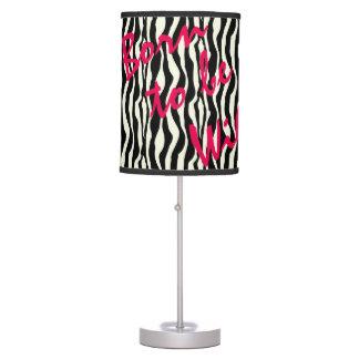 Born To Be Wild Zebra Print Pattern Table Lamp