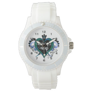 Born to Bead Blue Heart Watch