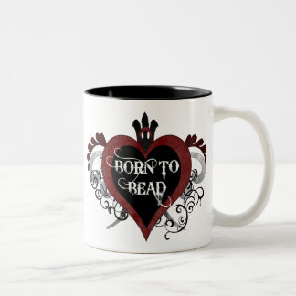 Born to Bead (red) mug