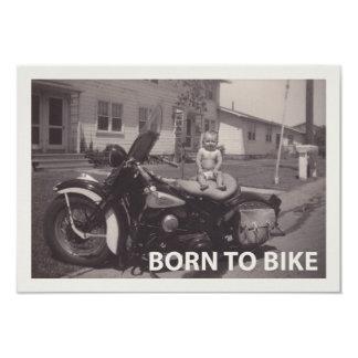 born to bike card
