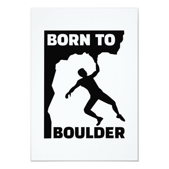 Born to Boulder Card