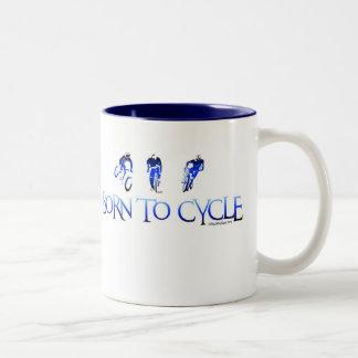 BORN TO CYCLE Two-Tone COFFEE MUG