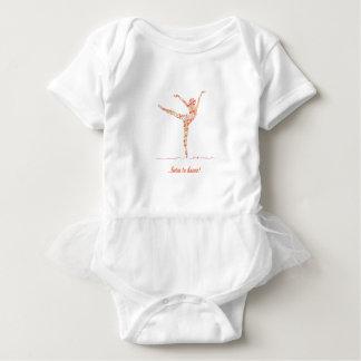 Born to dance - beautiful ballerina bodysuit