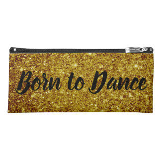 Born to Dance | Black and Gold Pencil Case