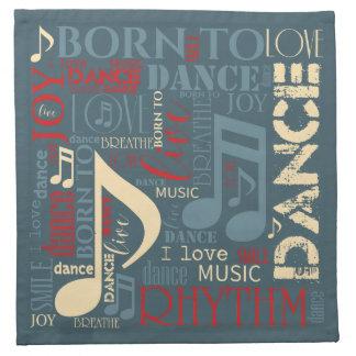 Born to Dance Blue ID277 Napkins