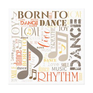 Born to Dance Brown ID277 Canvas Print