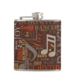Born to Dance Brown ID277 Flask