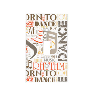 Born to Dance Brown ID277 Light Switch Cover