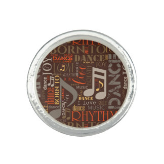 Born to Dance Brown ID277 Photo Rings