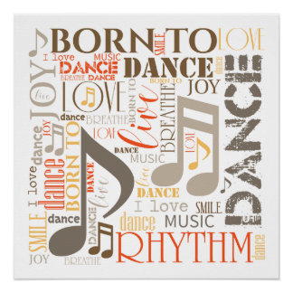 Born to Dance Brown ID277 Poster
