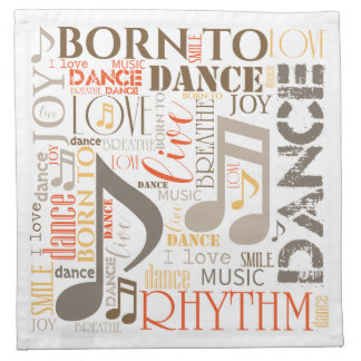 Born to Dance Brown ID277 Printed Napkins