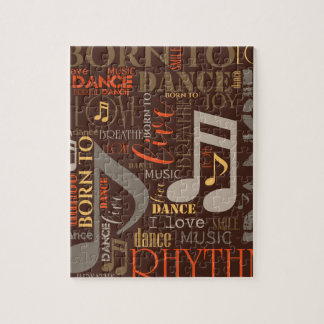 Born to Dance Brown ID277 Puzzle
