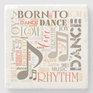 Born to Dance Brown ID277 Stone Coaster