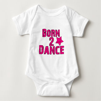 Born to Dance Pink Baby Bodysuit