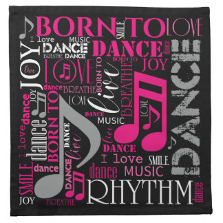 Born to Dance Pink ID277 Cloth Napkins