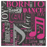 Born to Dance Pink/White ID277 Fabric