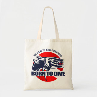 Born to Dive (Barracuda) Tote Bag