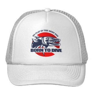 Born to Dive (Barracuda) Trucker Hat