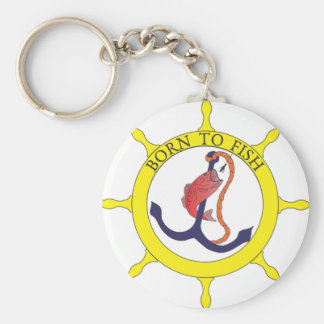 Born to fish keychain
