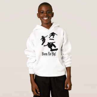 Born To Fly - Kid's Skateboard Hoodie