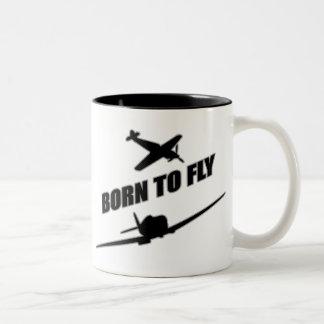 Born To Fly Two-Tone Coffee Mug